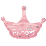 "34"" Birthday Princess Crown Foil Balloon"